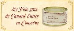 Foie gras entier en conserve