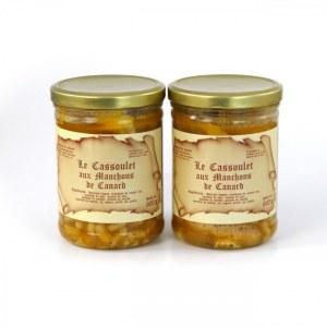 Lot de 2 - Cassoulets aux manchons de canard 600g