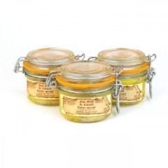Lot de 3 - Foies gras de canard mi-cuits 120g